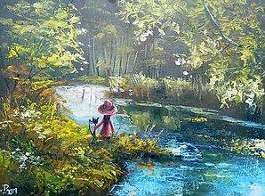 Obrazy - léto pri rieke - 10899840_