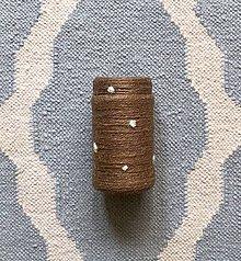"""Dekorácie - """"Bodkovaná hnedá """" recyklovaná váza - 10899393_"""