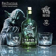 Nádoby - DARČEKOVÝ SET Fľaša a dva poháre na whisky - 10897771_