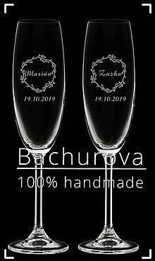 Nádoby - Svadobné poháre na zakázku pre_zuzka19111 - 10898700_