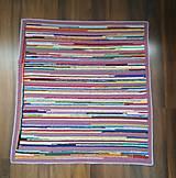 Úžitkový textil - Háčkovaný koberček pestrofarebný - 10897621_