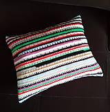 Úžitkový textil - Háčkovaný vankúš so zipsom - 10897632_