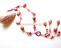 "Náhrdelníky - Collar de semillas ""rosa"" - 10898151_"