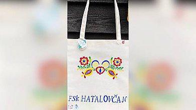 Nákupné tašky - ♥ Plátená, ručne maľovaná taška ♥ - 10898958_