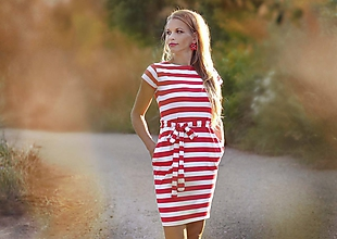 Šaty - Vreckové šaty Clown - S/M - 10899121_