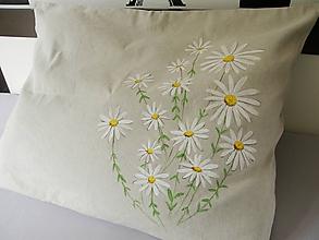 Úžitkový textil - Obliečka na vankúš margarétky 90x70cm - 10898481_