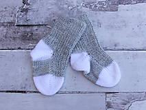 Sivo-biele detské ponožky