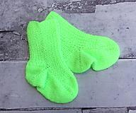 Neónové detské ponožky