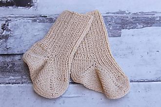 Topánočky - Béžové detské ponožky - 10898904_