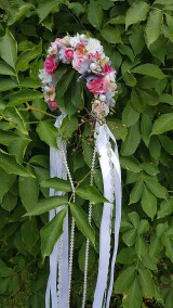 Ozdoby do vlasov - Romantická kvetinová parta - 10898607_