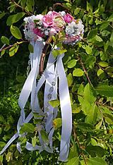 Ozdoby do vlasov - Romantická kvetinová parta - 10898608_