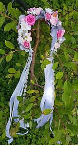 Ozdoby do vlasov - Romantická kvetinová parta - 10898609_