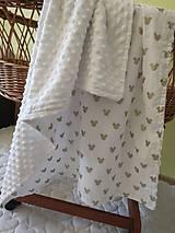 Textil - Minky deka s myškami - 10899993_