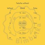 Pre zvieratká - Modrý obojok so žltými labkami a menom - 10898223_