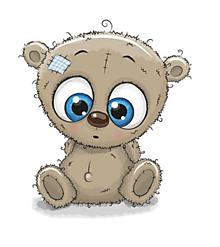 Galantéria - Nažehľovačka Okatý medvedík - 10899482_