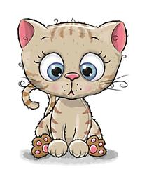 Galantéria - Nažehľovačka Okatá mačička - 10899523_