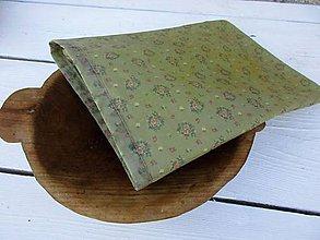 Úžitkový textil - stredné voskované vrecko-šedá - 10899472_