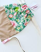 Kvetovaný zeleno béžový batoh Deni