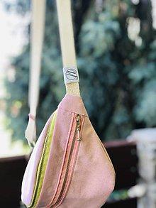 Kabelky - Pastelovo ružová ľadvinka pinky - 10897932_