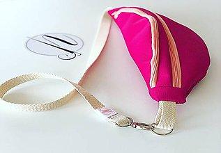 Kabelky - Sýto ružová ľadvinka z eko kože - 10898002_