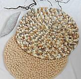 """Úžitkový textil - Jemný a ľahučký okrúhly koberček """"kučeravý"""" - 10900176_"""