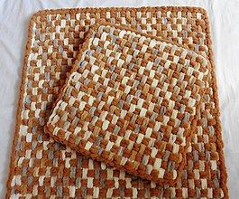 Úžitkový textil - Jemný a ľahučký prepletaný obojstranný podsedák - 10900249_