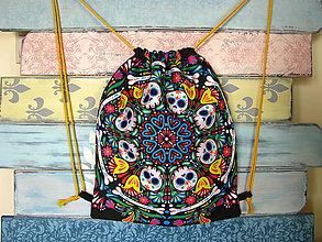 Batohy - Ruksak, batůžek, vak - Mandala s lebkami - 10898976_