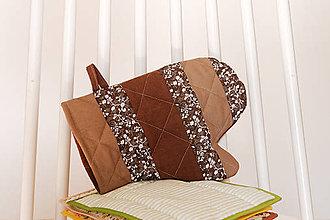 Úžitkový textil - Chňapka - hnedá - 10897764_