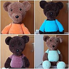 Hračky - Veliké hačkované  medvedíky - 10899322_