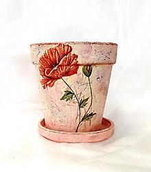 Nádoby - kvetináč vlčí mak 2 - 10898438_