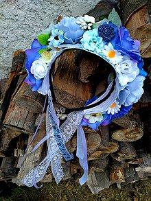 """Ozdoby do vlasov - Parta """"Modrý kvet"""" - 10899847_"""