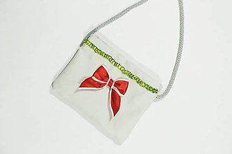 Detské tašky - Detská kabelka s mašličkou - 10899011_