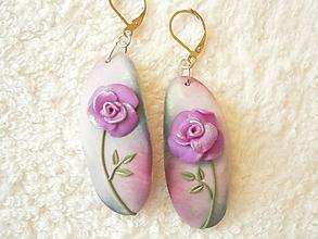 Náušnice - Náušnice z polyméru, kvet 2 - 10898425_