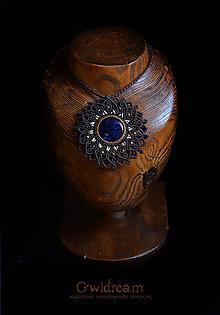 Náhrdelníky - Náhrdelník mandala Sodalit •Šamanka• - 10899598_