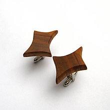 Šperky - Drevené manžetové gombíky - hruškové kúsky - 10897793_