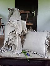 Úžitkový textil - Ľanová prikrývka Rough Look - 10899669_