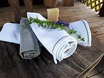 Úžitkový textil - Sada Natural Linen White - 10899803_
