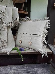 Úžitkový textil - Ľanová obliečka na vankúš Rough Look - 10899684_
