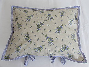 Úžitkový textil - Levanduľová obliečka sivo-fialová - 10901943_