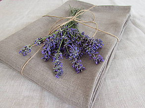 Úžitkový textil - Ľanová plachta natur - 10902014_