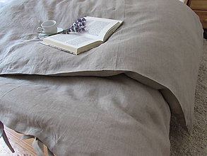 Úžitkový textil - Ľanová obliečka na perinu Natur - 10902146_