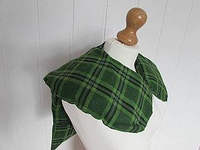 Úžitkový textil - Pohánkový vankúšik na ramená a chrbticu zelené káro - 10902540_
