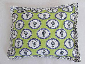 Úžitkový textil - Vankúšik levandulky zelené - 10902716_