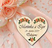 Darčeky pre svadobčanov - Svadobná magnetka - 10902393_