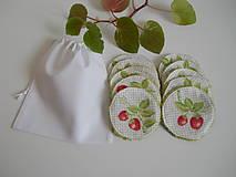 Úžitkový textil - Odličovacie tampóny - Biele froté s modrými kvetinkami - 10900900_