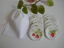 Úžitkový textil - Odličovacie tampóny - Biele froté s modrými kvetinkami - 10900902_