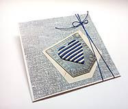 Papiernictvo - Pohľadnica ... srdcom námorník - 10902483_