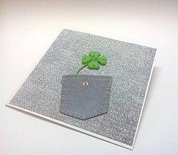 Papiernictvo - Pohľadnica ... veľa šťastia - 10901902_
