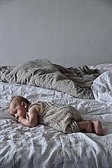 Detské oblečenie - Matej overal natural (3-6 m) - 10900790_