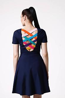 Šaty - Šaty s farebným chrbátom - 10900761_